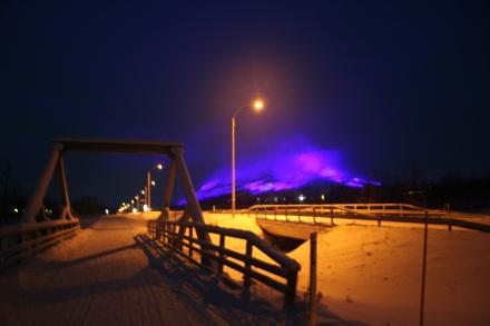 Saana at night