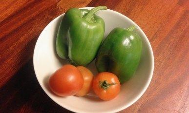 Last vegetables from garden