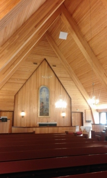 Inari church from insade