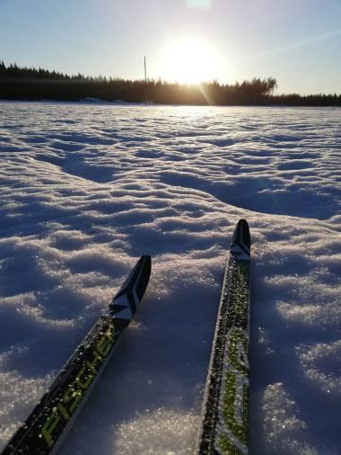 Few days the snow was hard enough to ski
