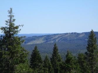 From the tower towards Ukko-Halla