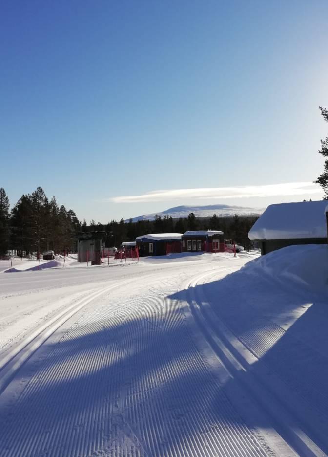 Hetta skiing tracks