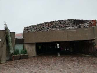 The entrence to Temppeliaukio church