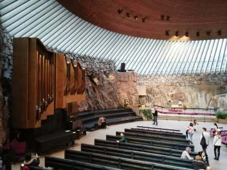 Temppeliaukio church from insade